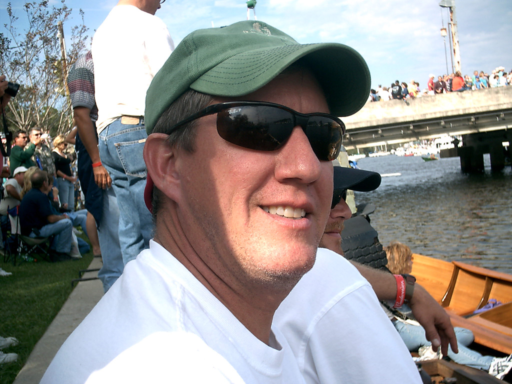 Kurt at the Wooden Boat Show